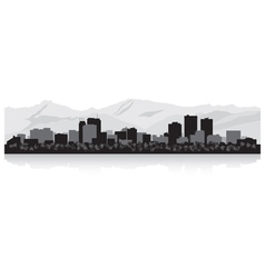 Anchorage usa city skyline silhouette vector