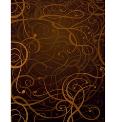 Brown abstract ornament background vector