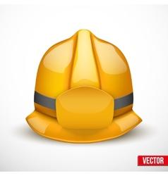 Gold fireman helmet vector