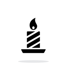 Christmas candle icon on white background vector