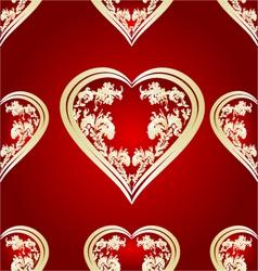 Seamless texture heart vector