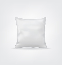 Blank white mock-up cushion or pillow for design vector