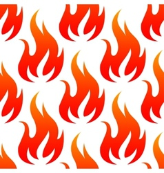 Red fire flames seamless pattern vector