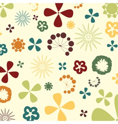 Two flowers on a beige background a vector