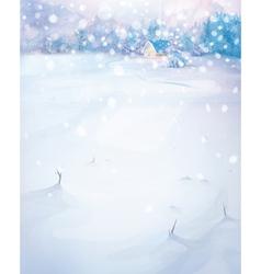Winter nature scenery vector