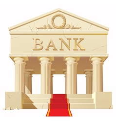 Bank building vector