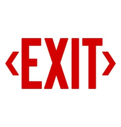 Red exit sign vector