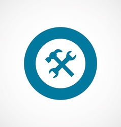 Repair bold blue border circle icon vector