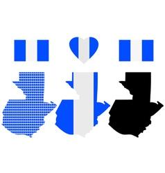 Guatemala map vector