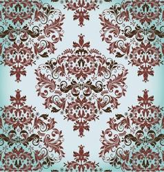 Floral vintage damask background vector