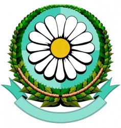 Daisy cartoon logo vector
