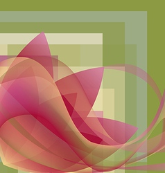 Colorful flower with waves on a square gradient vector