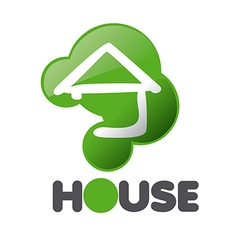 Logo house in the sign issue vector