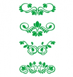 Flourish decorations vector