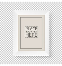 White picture frame on transparent background vector