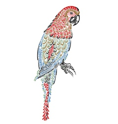 Decorated parrot bird vector