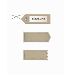 Cardboard tags of different shapes vector