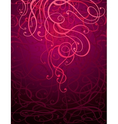 Maroon abstract ornament background vector