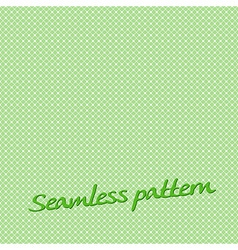 Seamless pattern lines green with text vector