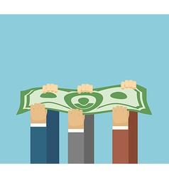 Bring in revenue hands carry dollars big money vector