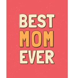 Colorful mothers day retro greeting card design vector