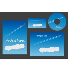 Aviation marketing elements vector
