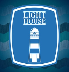 Lighthouse icon design vector