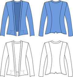 Template outline of a woman jacket vector