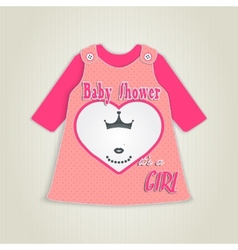 Card in the form of clothing baby shower vector