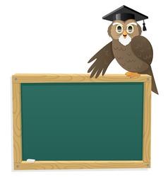 Owl blackboard vector