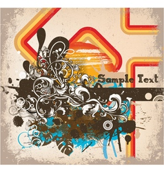 Grunge retro background vector