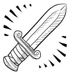 Doodle swords roman vector