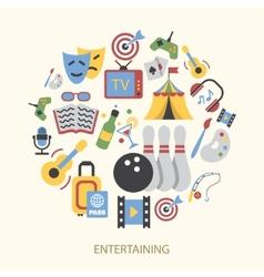 Entertainments icons set vector