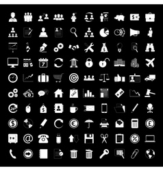 Business icons set human resource finance and vector