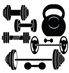 Silhouettes of weights vector