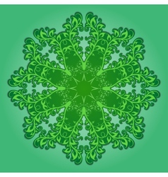 Filigree pattern on green vector