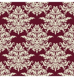 Busy arabesque pattern with large floral motifs vector