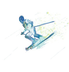 Down hill skiing vector
