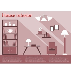 House interior infographic in flat style with vector