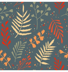 Decorative seamless pattern with leaf abstract vector