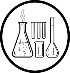 Lab utensil icon vector
