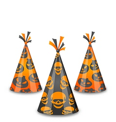 Halloween party hats isolated on white background vector