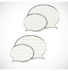 Checkered speech bubbles vector