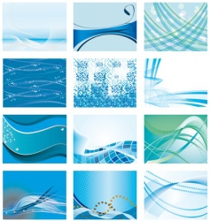 Blue backgrounds vector