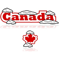 Canada and snow vector