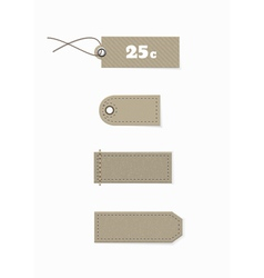 Labels with the texture of cardboard vector