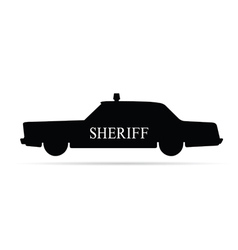 Sheriff car vector