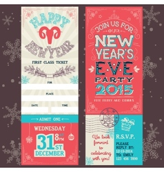 New years eve party invitation ticket vector