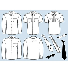 Man shirts and necktiesfashion clothes vector