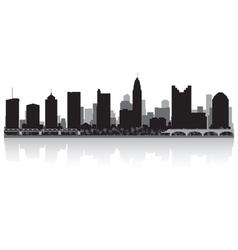 Columbus usa city skyline silhouette vector